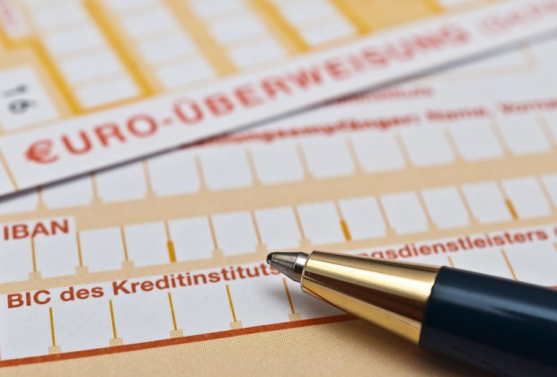 verrechnungsscheck unterschreiben