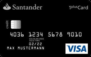 Santander 1plus VISA: Kreditkarte mit Tankrabatt