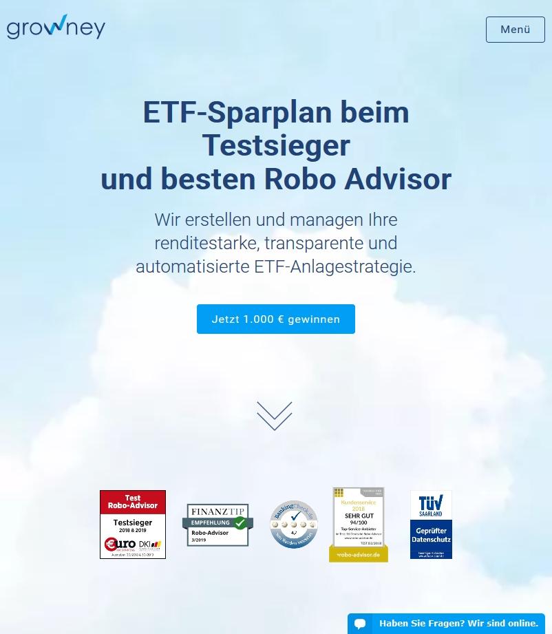 growney - ETF Sparplan mit Testsiegeln