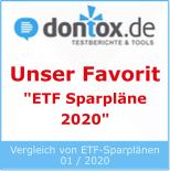 Testsiegel ETF Sparpläne 2020