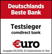 comdirect: Deutschlands beste Bank - Testsiegel 2019
