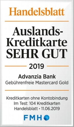 Advanzia Bank gebuhrenfrei Kreditkarte - Testsiegel