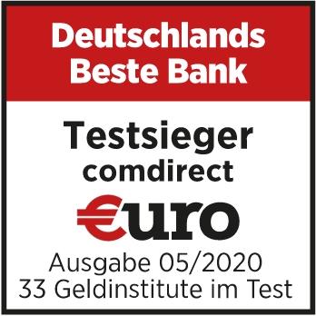Testsiegel EURO Magazin: Deutschlands beste Bank 2020