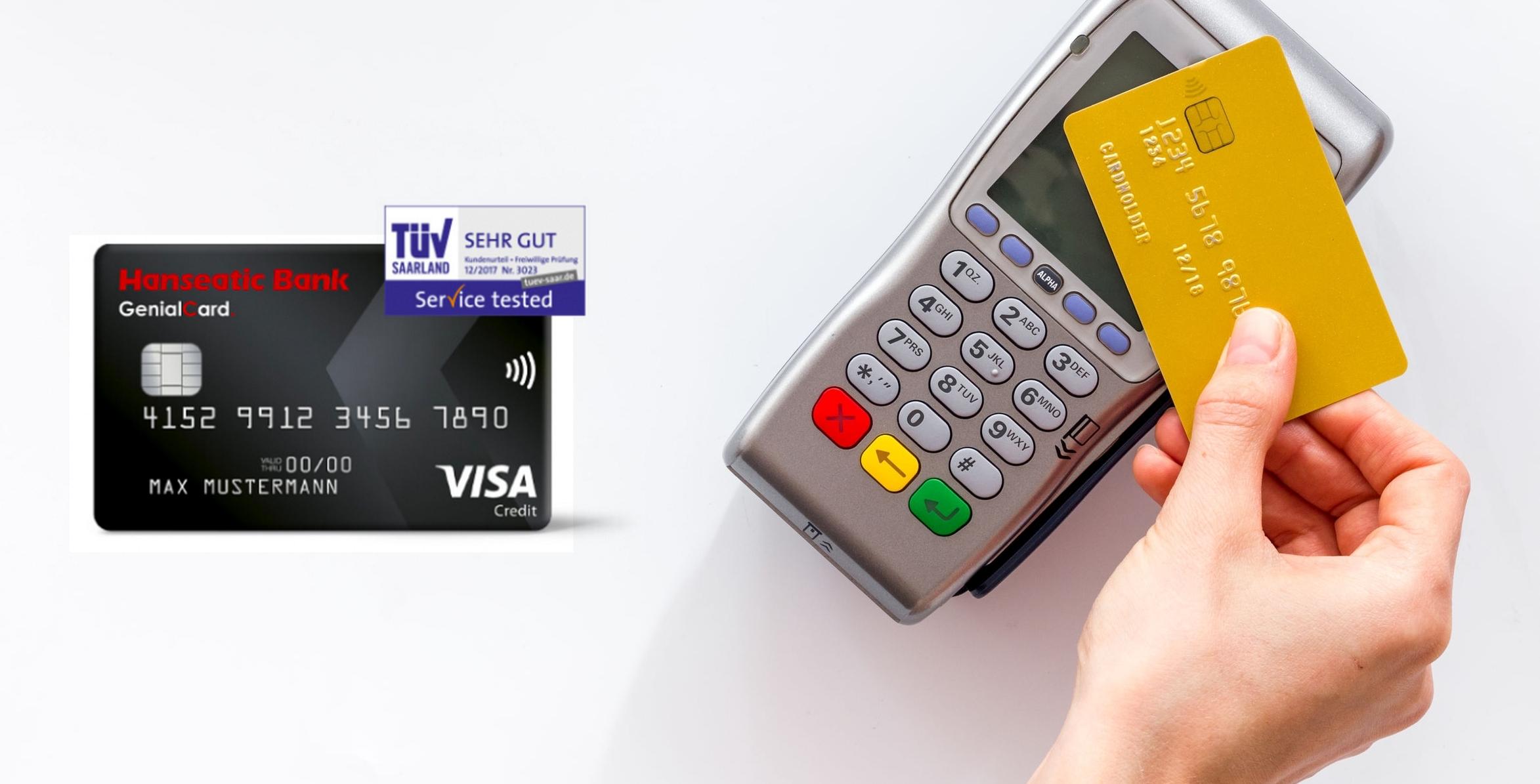 Kreditkarte ohne Jahresgebühr: Hanseatic Bank GenialCard