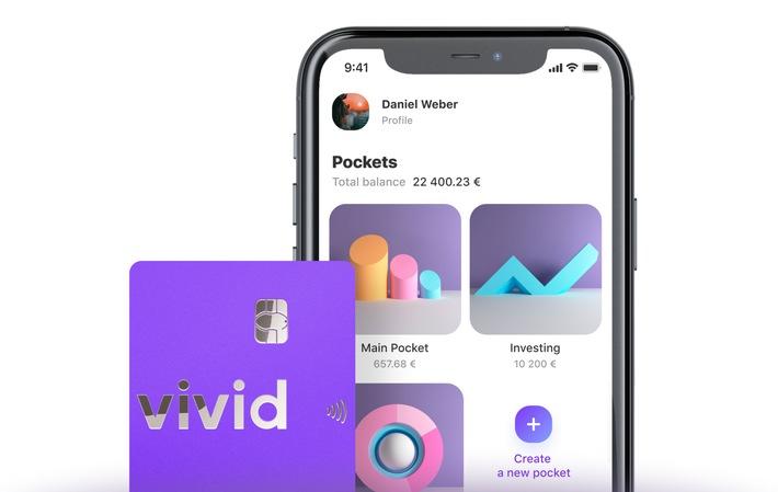 Vivid Money: Pockets und Debitkarte